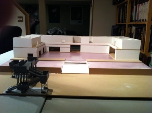 "Largely scratch-built terrain for Judge Dredd ""Block War"" - in progress 2013/14"