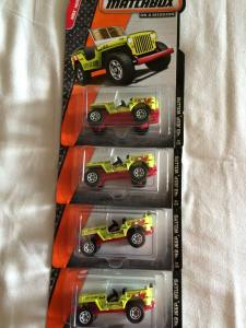I cleaned out the stock of Matchbox '43 Jeeps from the Cancun WalMart