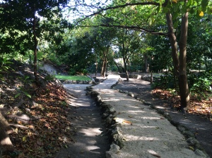 Walking path through the museum's archeological site